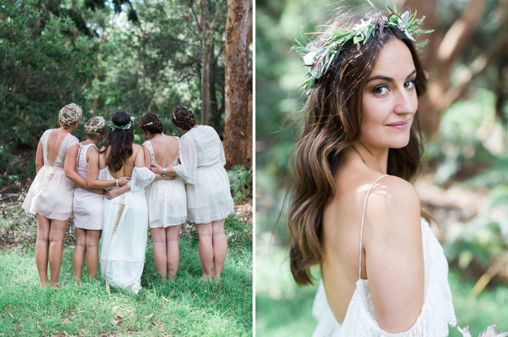 Bohemian Boho Bride wearing Grace Loves Lace
