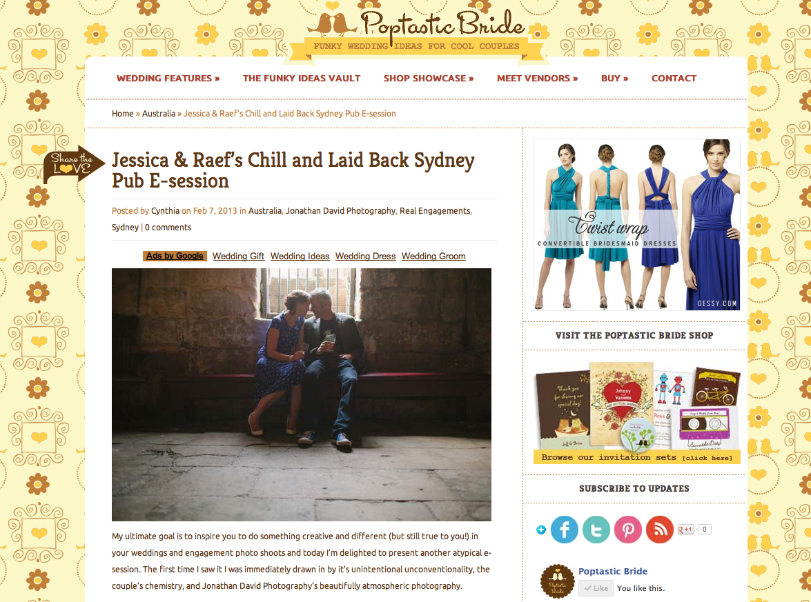 wedding photography blog feature