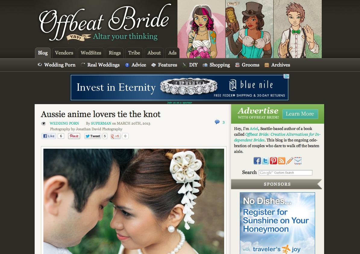 Offbeat Bride Wedding Photography Real Wedding