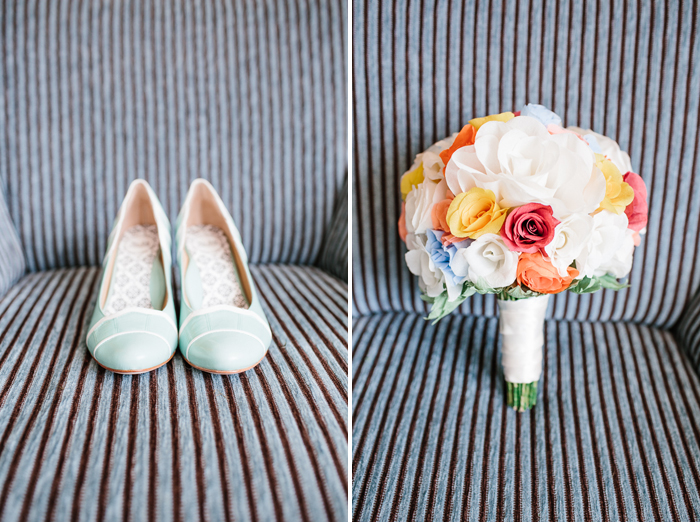 brides-shoes-and-floral-arrangements