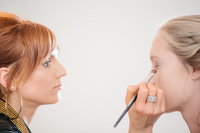 Bridal Makeup Station Before Wedding