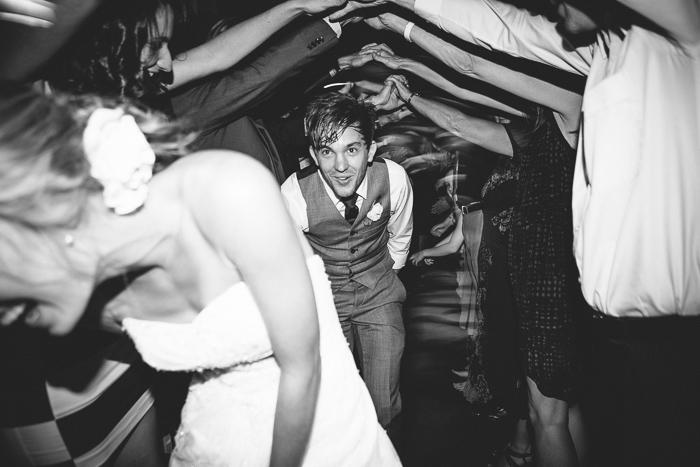 Groom Under the Wedding Tunnel