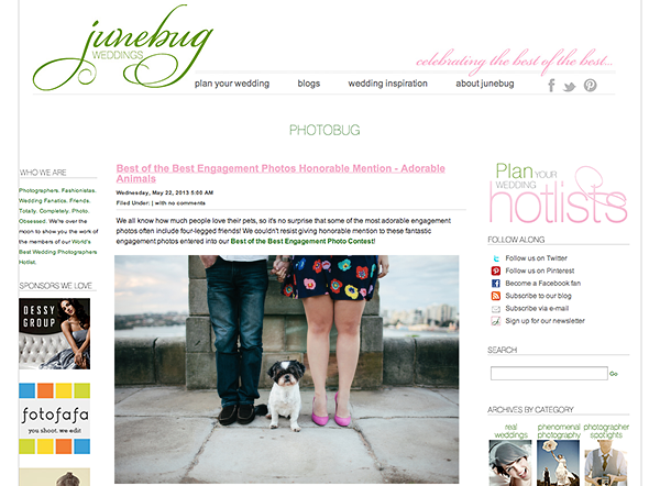 Junebug Weddings | Best of the Best Engagement Photography 2013