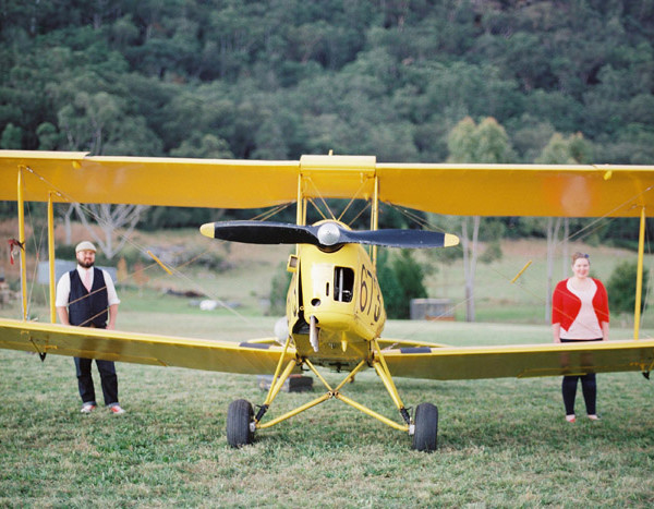 A Vintage Airfield Biplane Engagement   Andrew & Liana