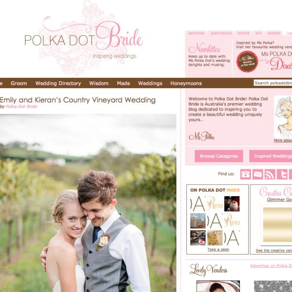 Polka Dot Bride Wedding Feature | Kieran & Emily