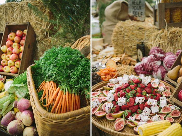 rustic-food-for-vintage-wedding