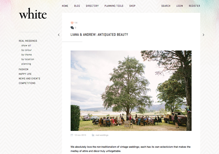 White Magazine | Vintage Wedding Photography Feature