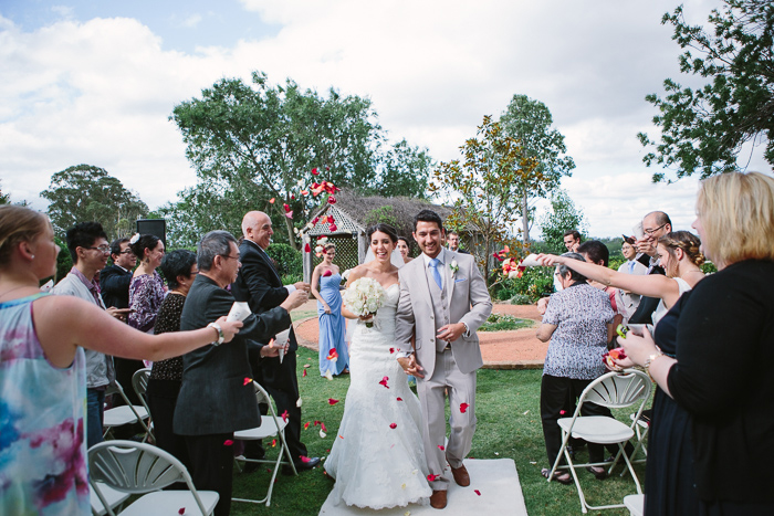 Walking down the Aisle at Belgenny Farm