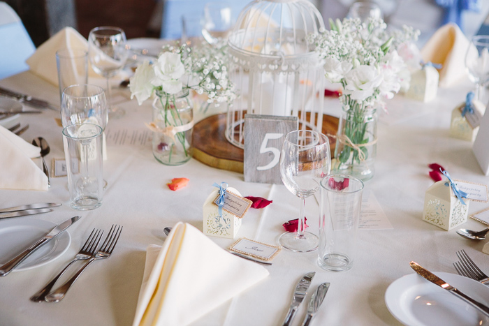 Rustic Wedding Centrepieces at Reception