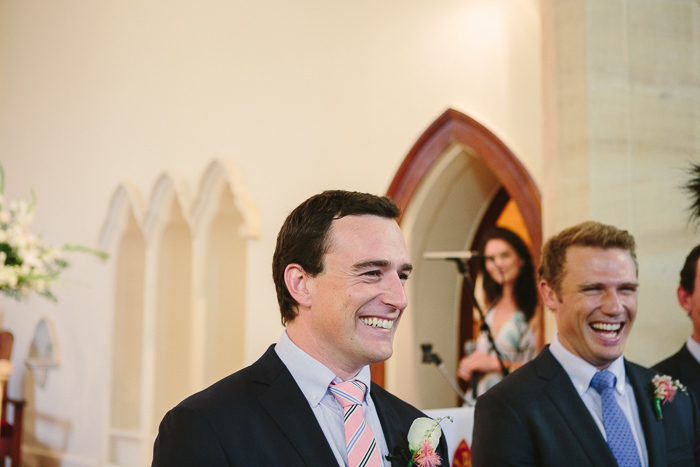 Happy Groom in Southern Highlands Wedding