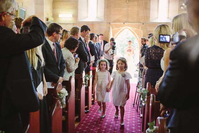 Vintage flowergirls in bowral wedding