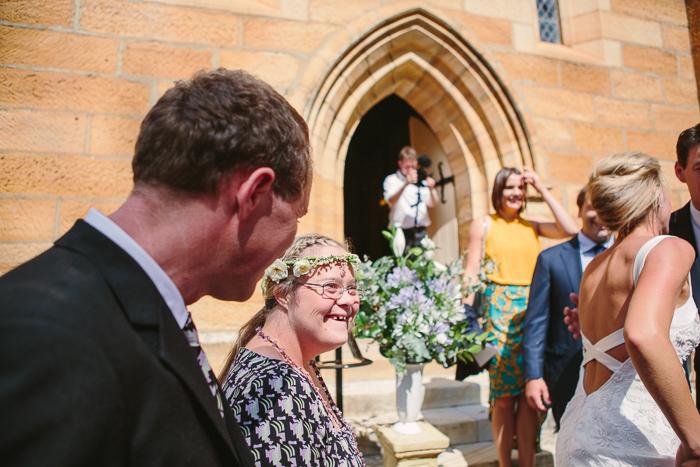 guests at bendooley estate wedding