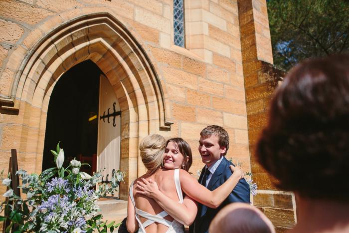 hugging guests in bowral