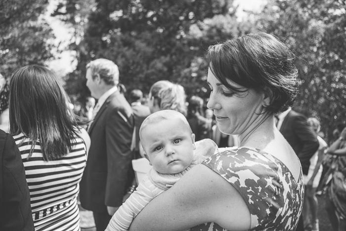 cute baby at wedding ceremony in berrima