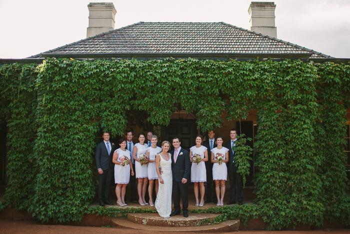 bridal party at berrima bendooley estate