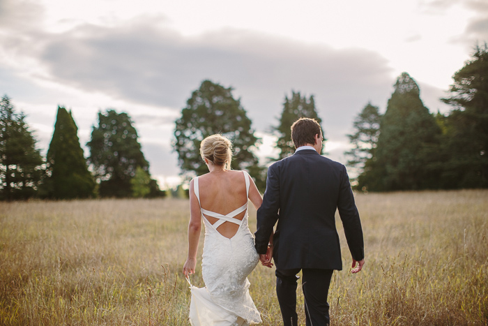 sunset wedding portraits in southern highlands