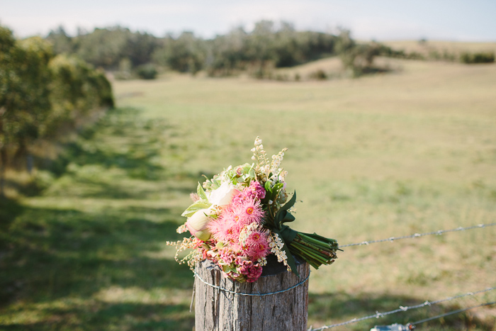 bridal bouquet at bendooley estate