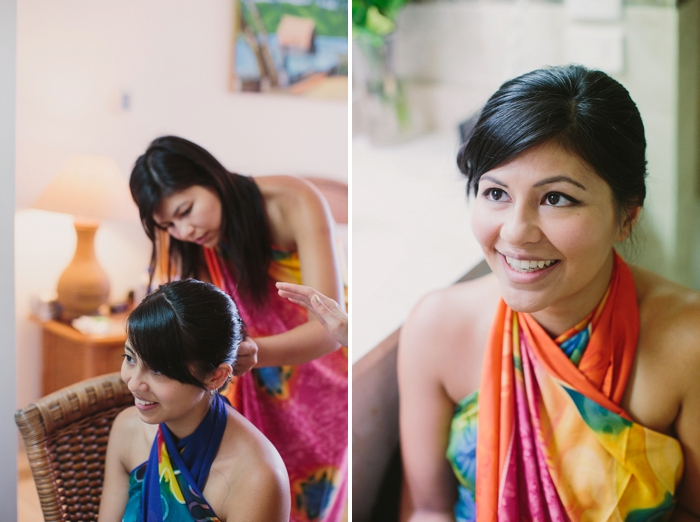 Bride getting ready for her wedding day