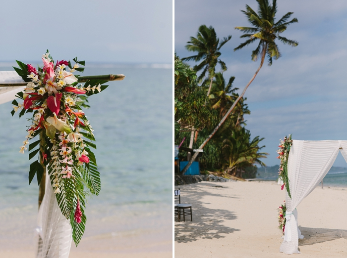 Fiji Wedding Photography on Sand