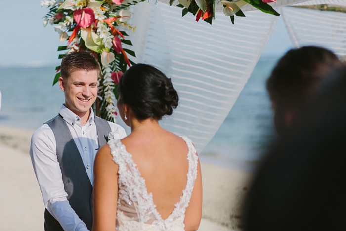Emotional Groom on his Wedding Day in Fiji