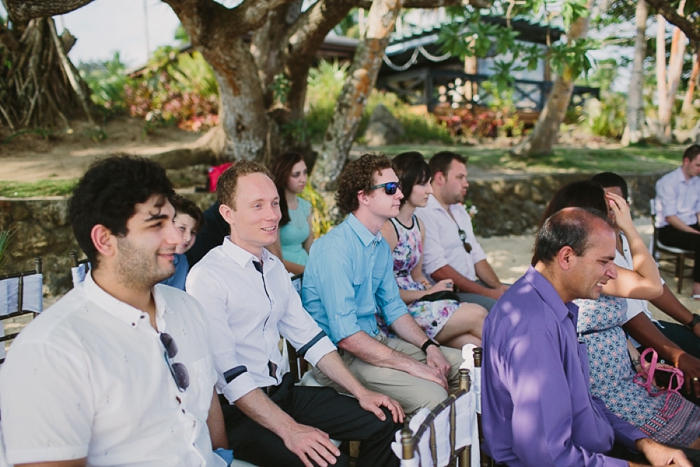 Guests at Fiji Wedding