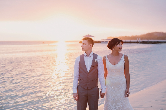 Sunset in Fiji after Wedding