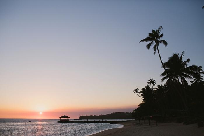 Romantic Sunset during Wedding in Fiji