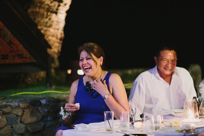 Laughing guests at fiji Wedding