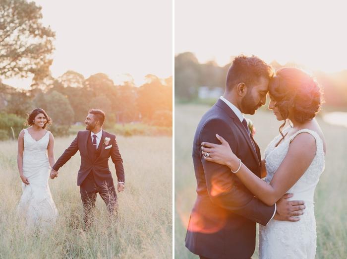 Romantic embrace by Bride & groom