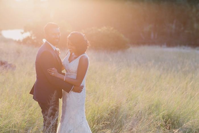 backlight sun during wedding