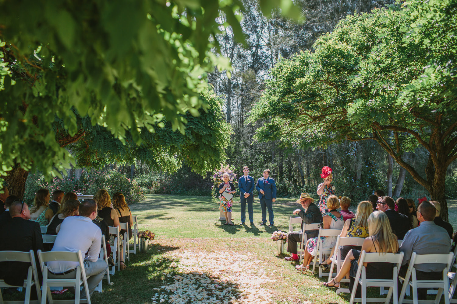 Groom waiting for the bride at Hunter Valley wedding