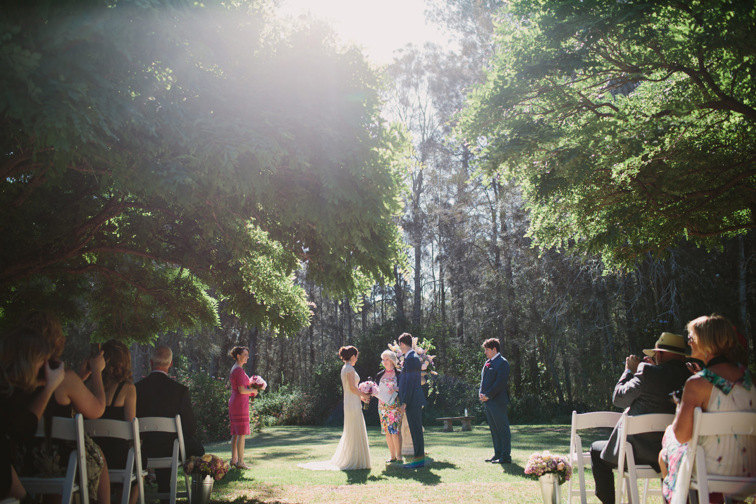 Exchanging wedding vows in the Hunter Valley