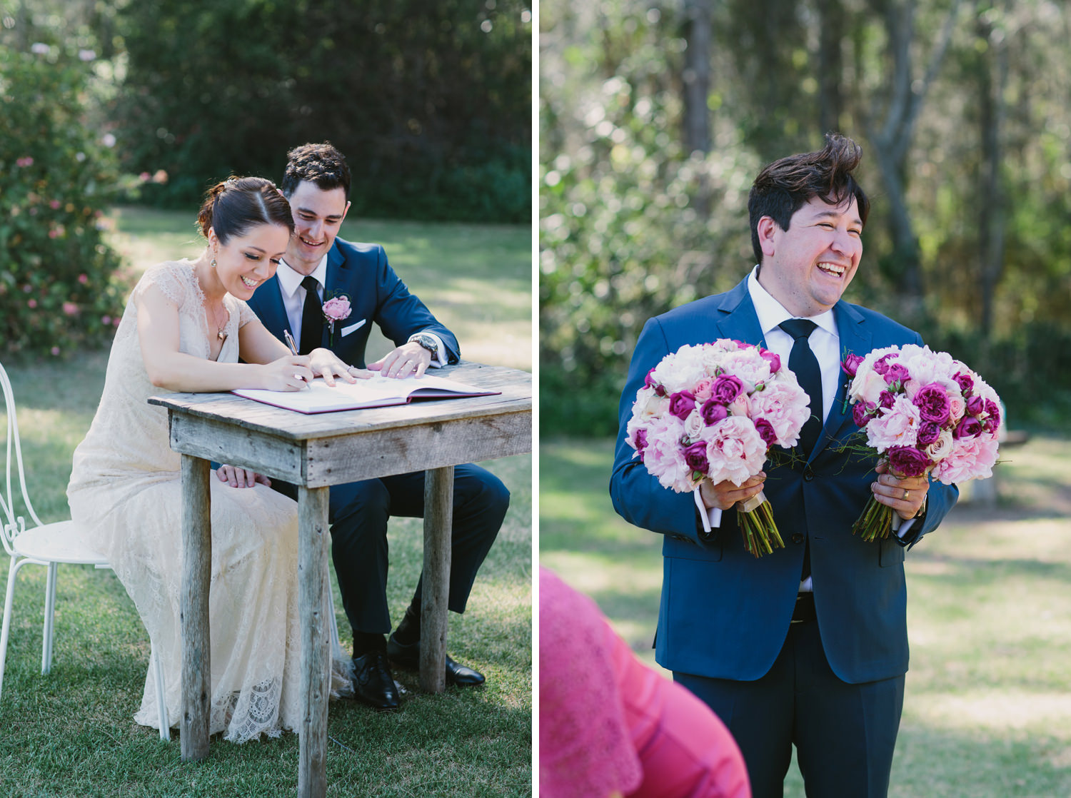 Signing the marriage register at Hunter Valley Wedding