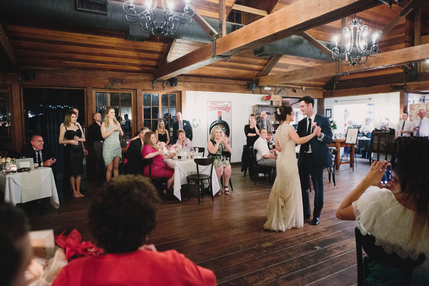 First dance at husband and wife Bridal Waltz in Hunter Valley