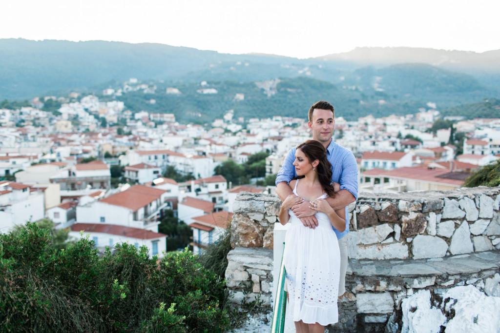 engagement portraits greek islands santorini