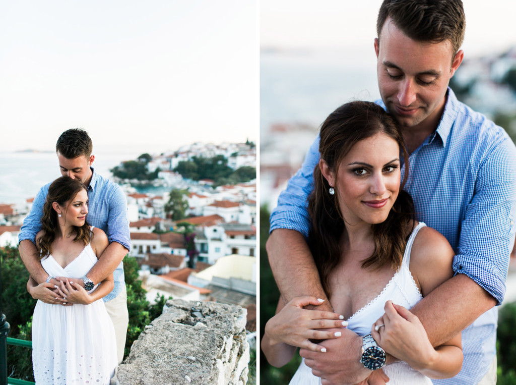 greek islands engagement photography
