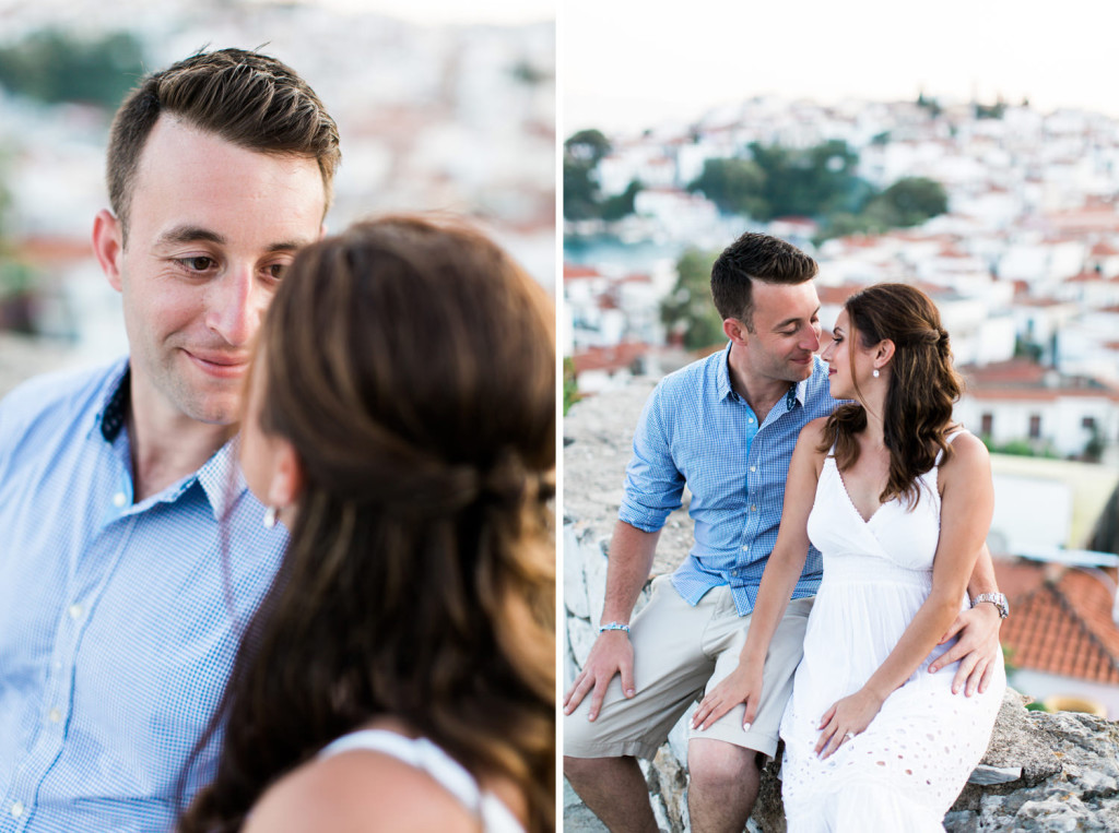 engagement photography in skiathos greece