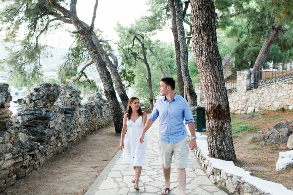 engagement photos in skiathos greece