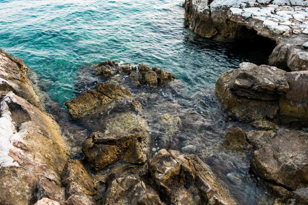 beautiful waters around skiathos town greece