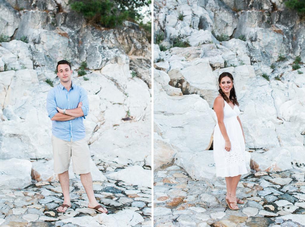 photos of the bride & groom in skiathos