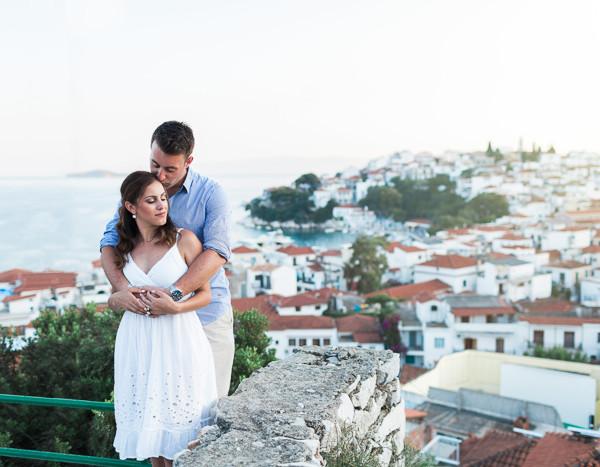 Tash & Dimitri | Skiathos Engagement Photography
