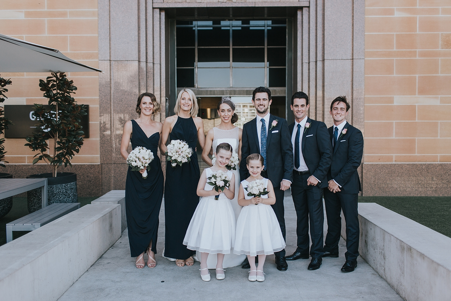 bridal party at the sydney mca