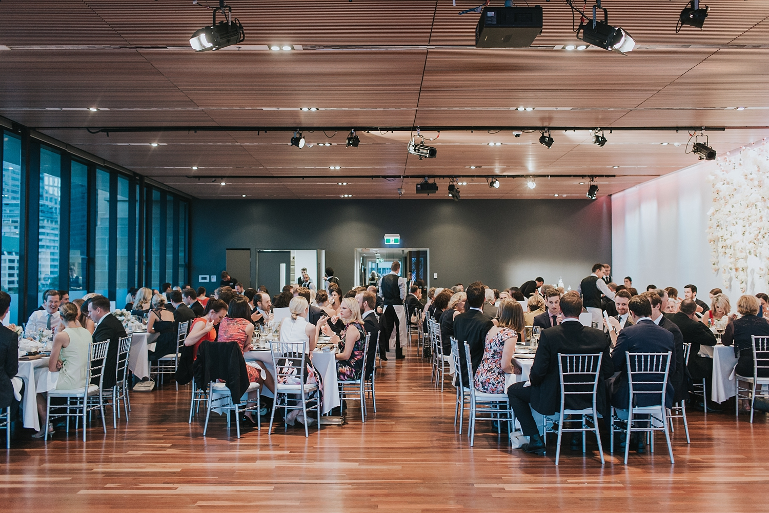 guests seated to enjoy their meal at the sydney mca
