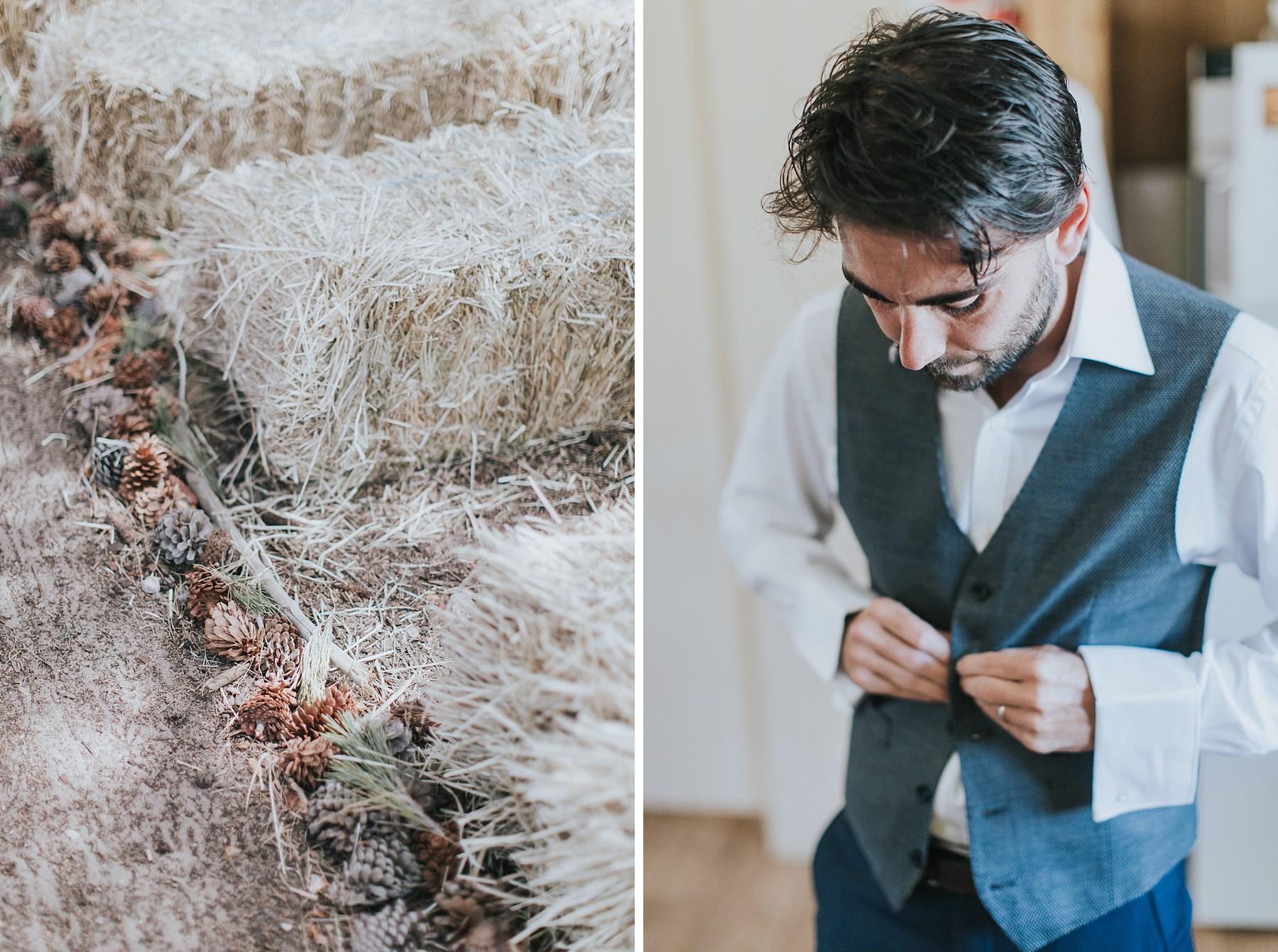 groom getting ready at narnu farm