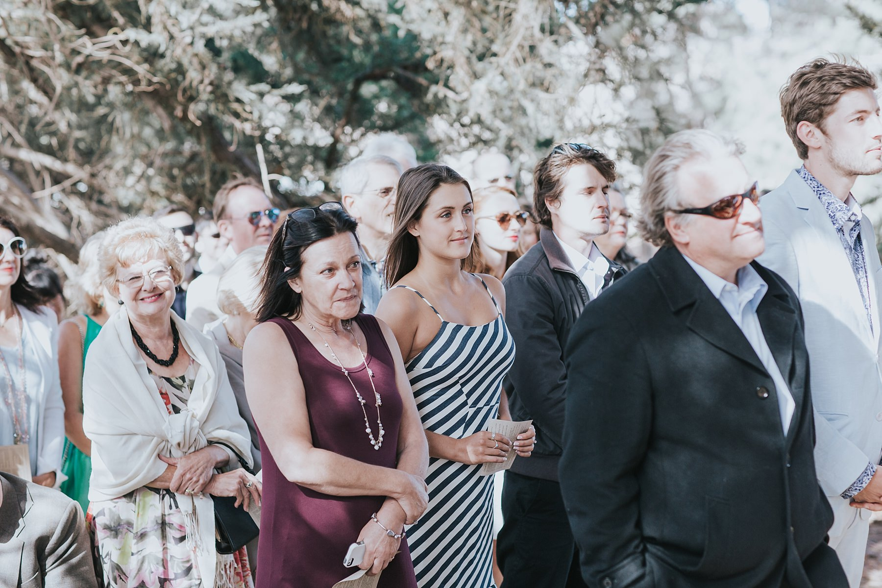 guests at boho wedding ceremony