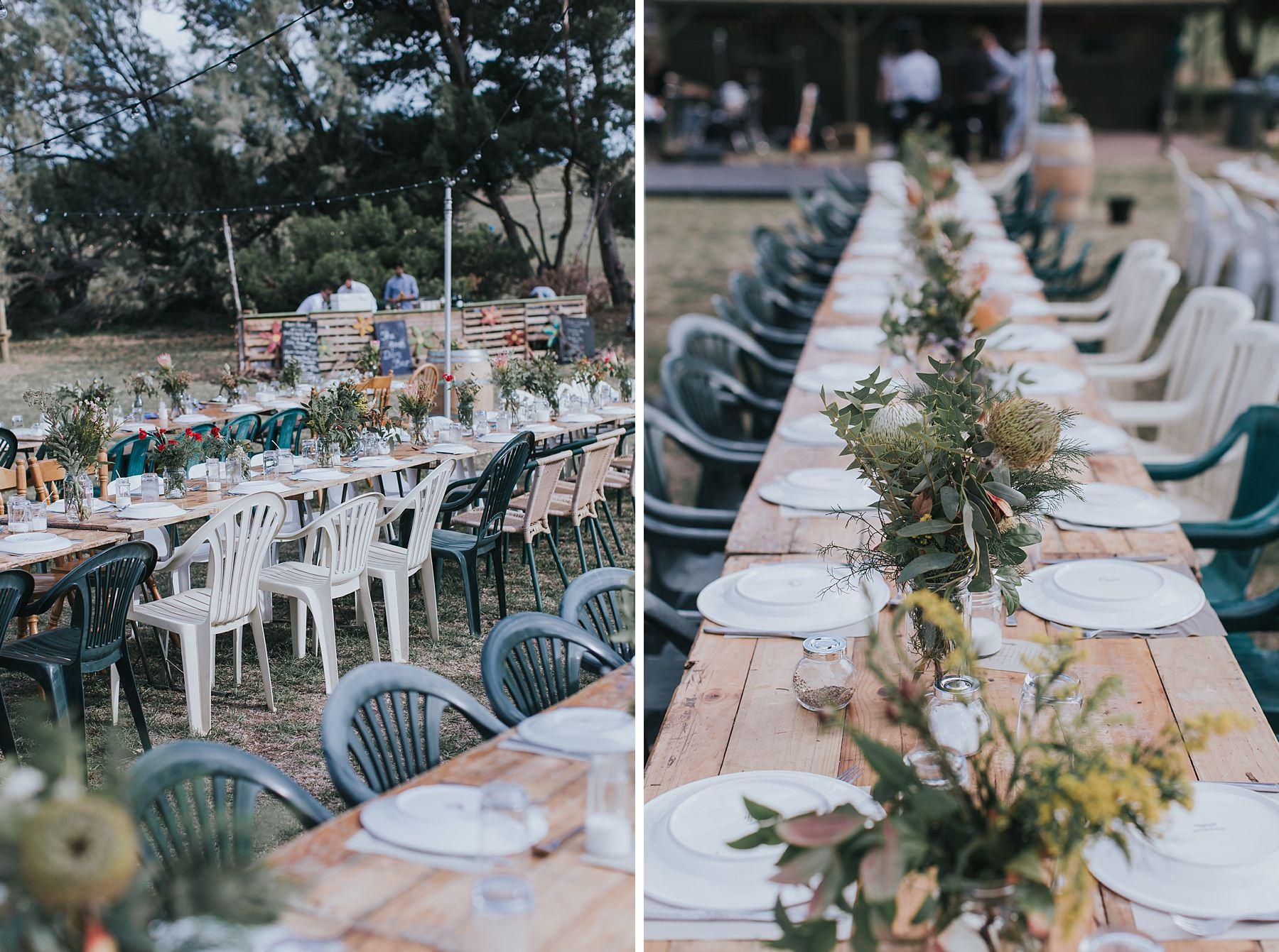 wedding reception detail photographs