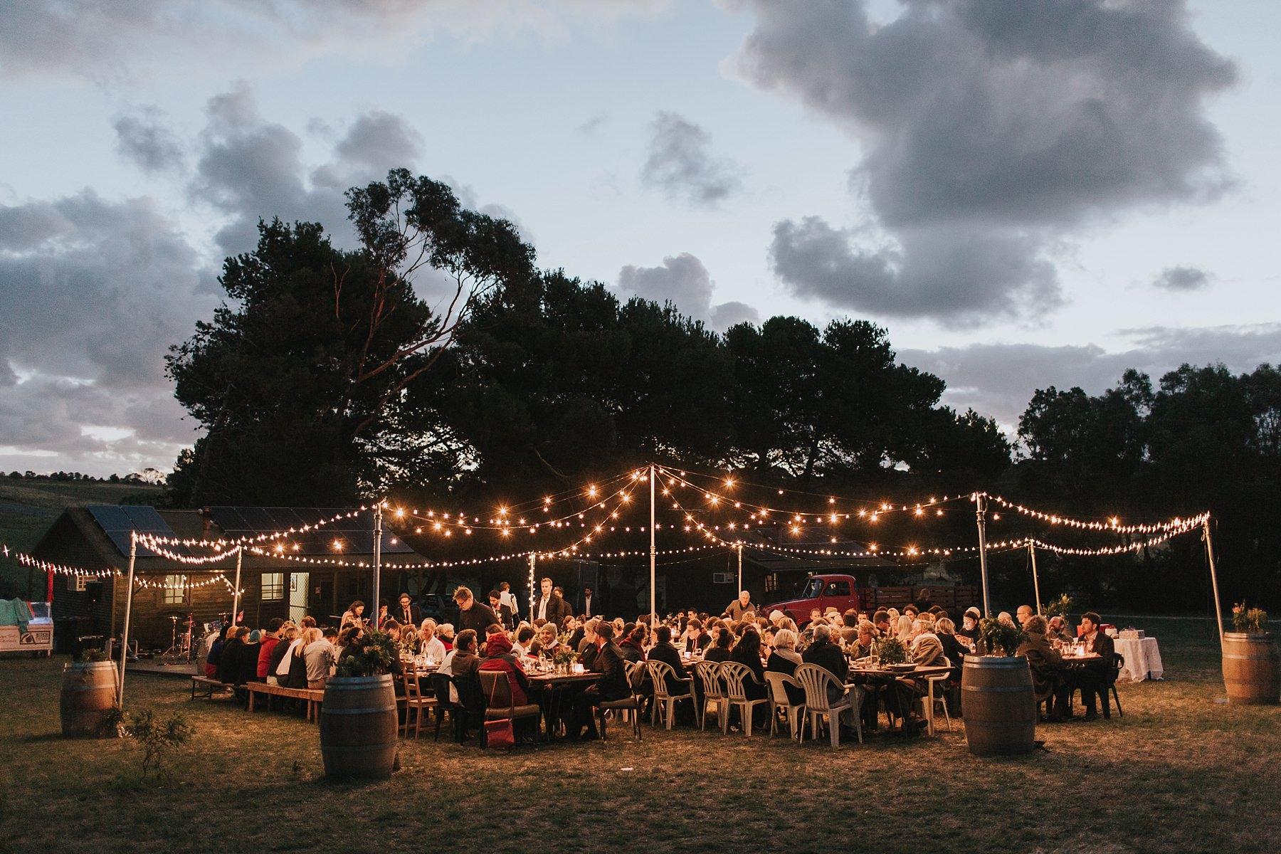 beautiful night skies for wedding reception