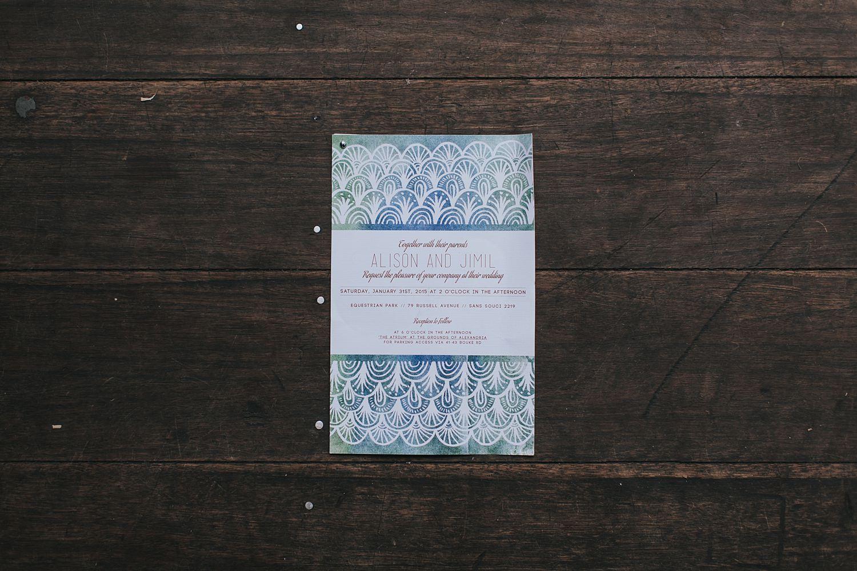 sydney wedding invitation photo