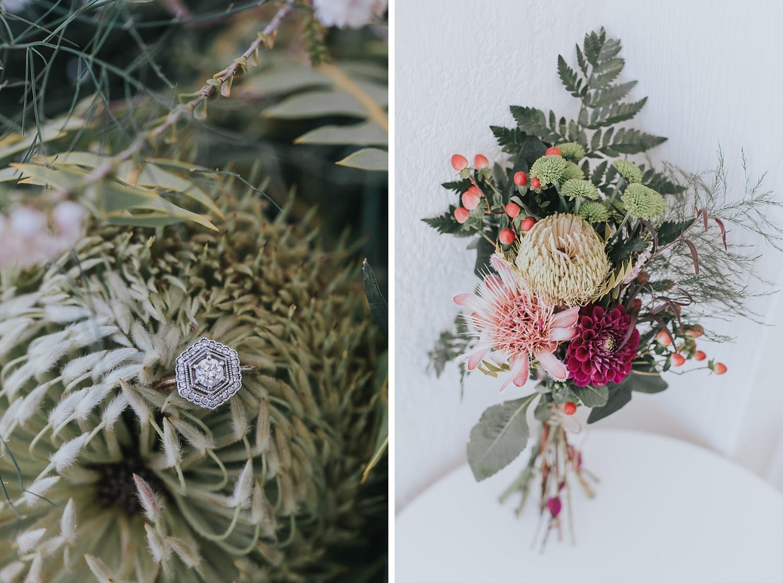 diy bouquets at sydney wedding