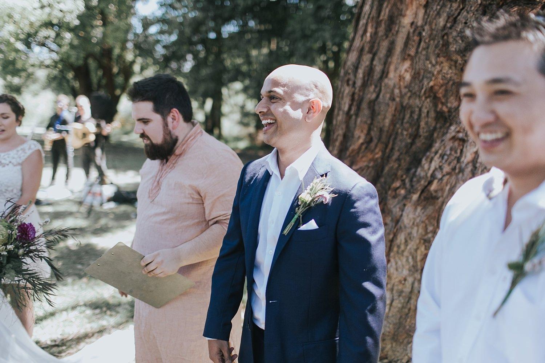 sydney wedding ceremony in ramsgate park